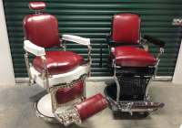 Antique Barbers chairs  Styles, Brands and Repros ...