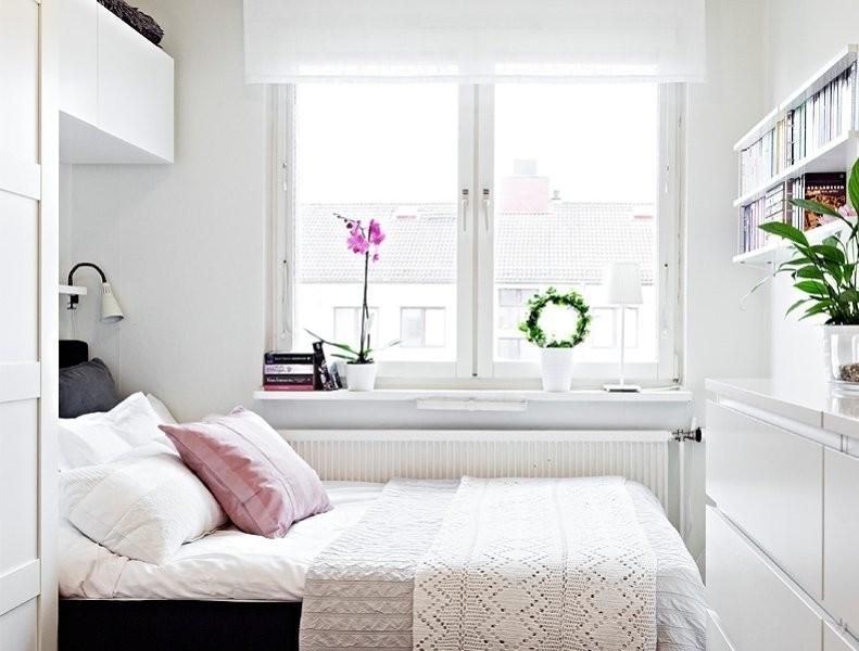 узкая длинная спальня дизайн фото 1