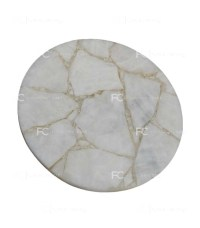 White Quartz Round Table - R114 - Furnishingcart