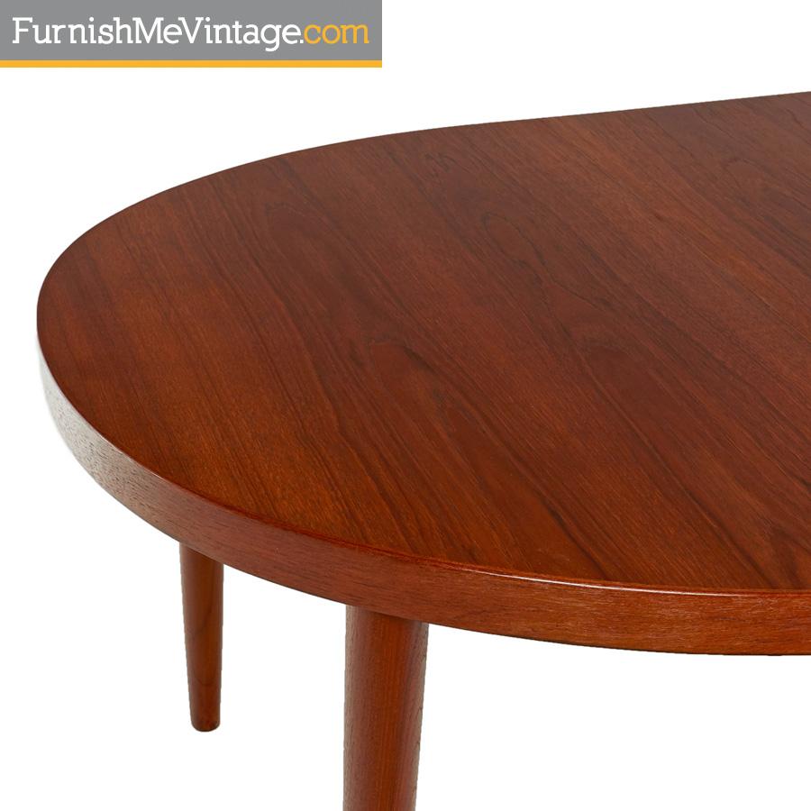 Skovmand Andersen Vintage Danish Teak Oval Dining Table