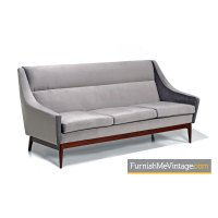 Mid century modern gray Danish sofa