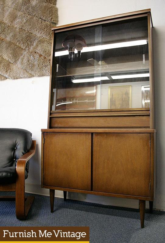 Small Bassett Mid Century Modern China Cabinet