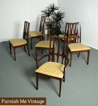 6 Broyhill Brasilia Mid Century Dining Chairs Original Fabric