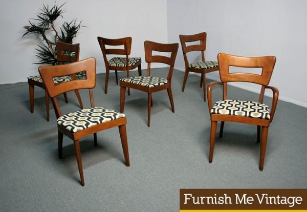heywood wakefield dogbone chairs design within reach chair walnut 6 m154a dog bone dining