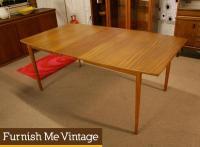Mid Century Modern Stanley Teak Dining Table