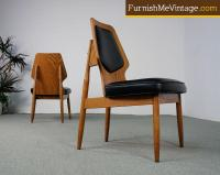 2 Floating Seat Mid Century Modern Chairs