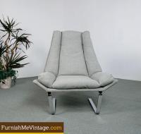 Mid century modern chrome chair