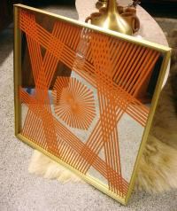 Vintage Turner Wall Art Mirror with Geometric Pattern