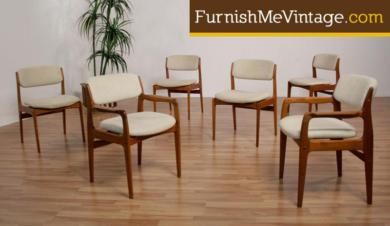 danish modern dining chair teak outdoor chairs 6 by benny linden
