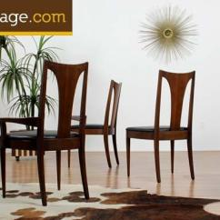 Broyhill Living Room Chairs High Tv Stand For Set Of Six Mid Century Modern Emphasis Dining