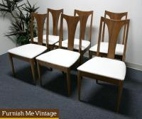 6 Broyhill Emphasis Vintage Mid Century Dining Chairs