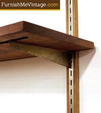 Mid Century Modern Wall Mounted Shelving System