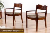 Pair of Mid Century Modern Milo Baughman Mindoro Chairs