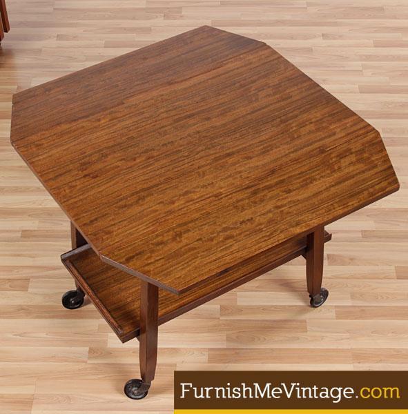 caramel colored leather sofas sleeper sofa craigslist orlando mid century modern milo baughman beverage cart
