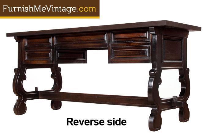 Vintage Spanish Revival Console Desk