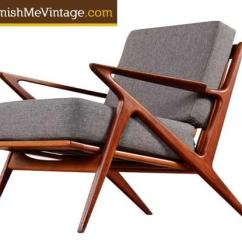Z Chair Mid Century Arm Protectors Pattern Restored Modern
