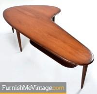 Mid century modern Danish teak boomerang coffee table
