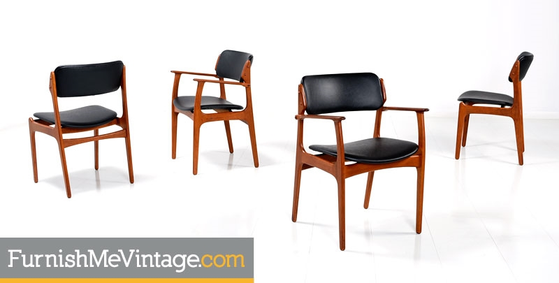 erik buck chairs conference for sale mid century modern model od 49 set of 4 restored