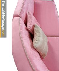 Pink Microsuede Sectional Sofa & Coffee Table - Furnish Me ...