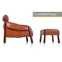 Percival Lafer MP-81 Congnac Leather Lounge chairs and ...