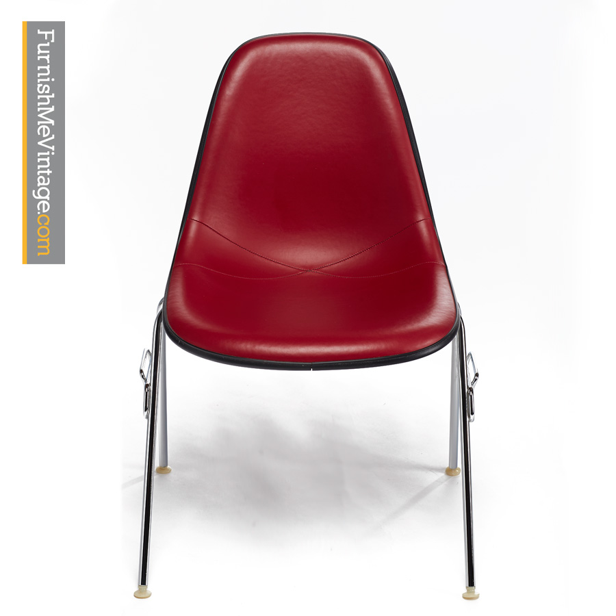 eames chair herman miller ergonomic big and tall by vinyl red fiberglass shell chairs modern vintage