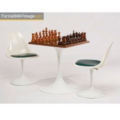 Chess Table And Chairs Cushions Adirondack Rosewood Set Saarinen Style Mid Century Modern