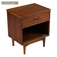 Kroehler Nightstands - Danish Modern Walnut & Oak Bedside ...