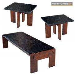 Walnut Furniture Living Room Corner Table For Adrian Pearsall Slate Top Base Set Craft Associates