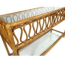 vintage rattan sofa table