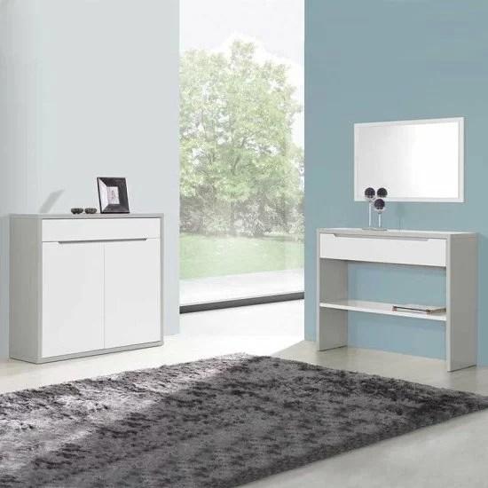 meuble d entree venice gris blanc