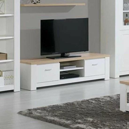 meuble tv florence chene blanc
