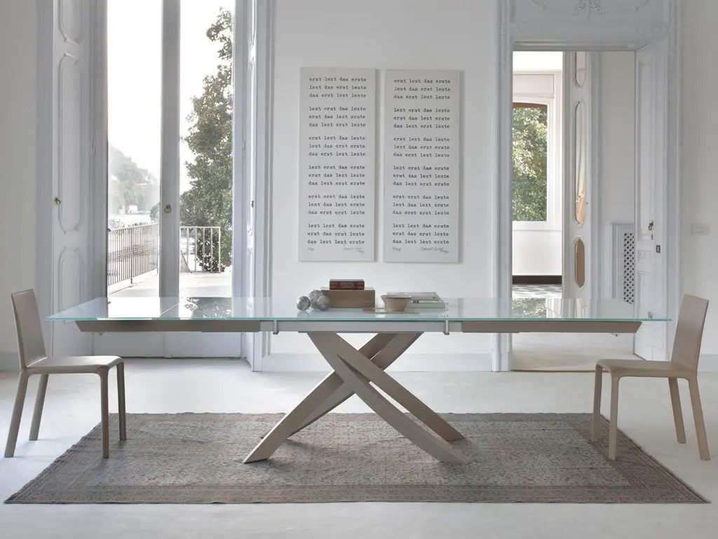 Bontempi Artistico Extendable Dining Table Furnitalia Contemporary Italian Furniture Showroom