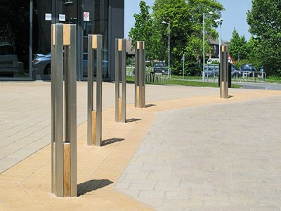 Harbour Bollard Stainless Steel with Timber Inserts