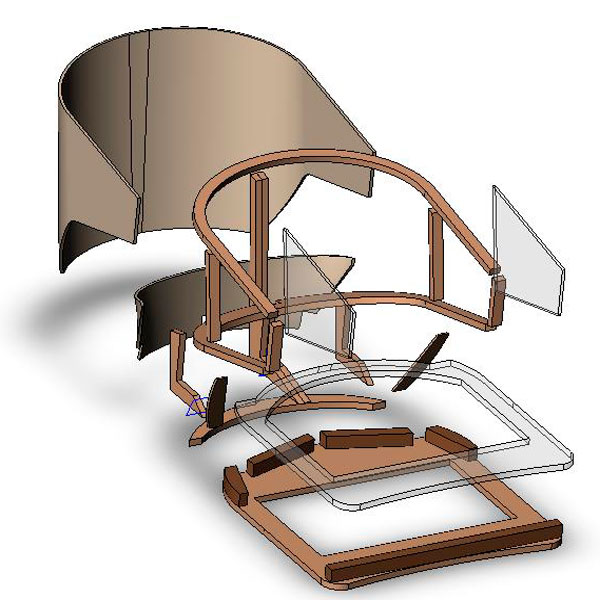 3d model frame chair