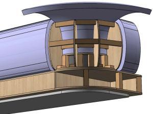 Three-dimensional model of the sofa frame