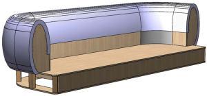 Трехмерная модель каркаса дивана