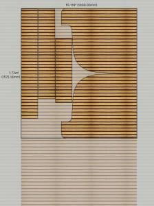 Моделирование раскроя подушки дивана