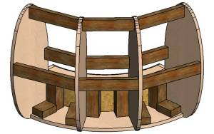 3d model of the frame corner section of the sofa