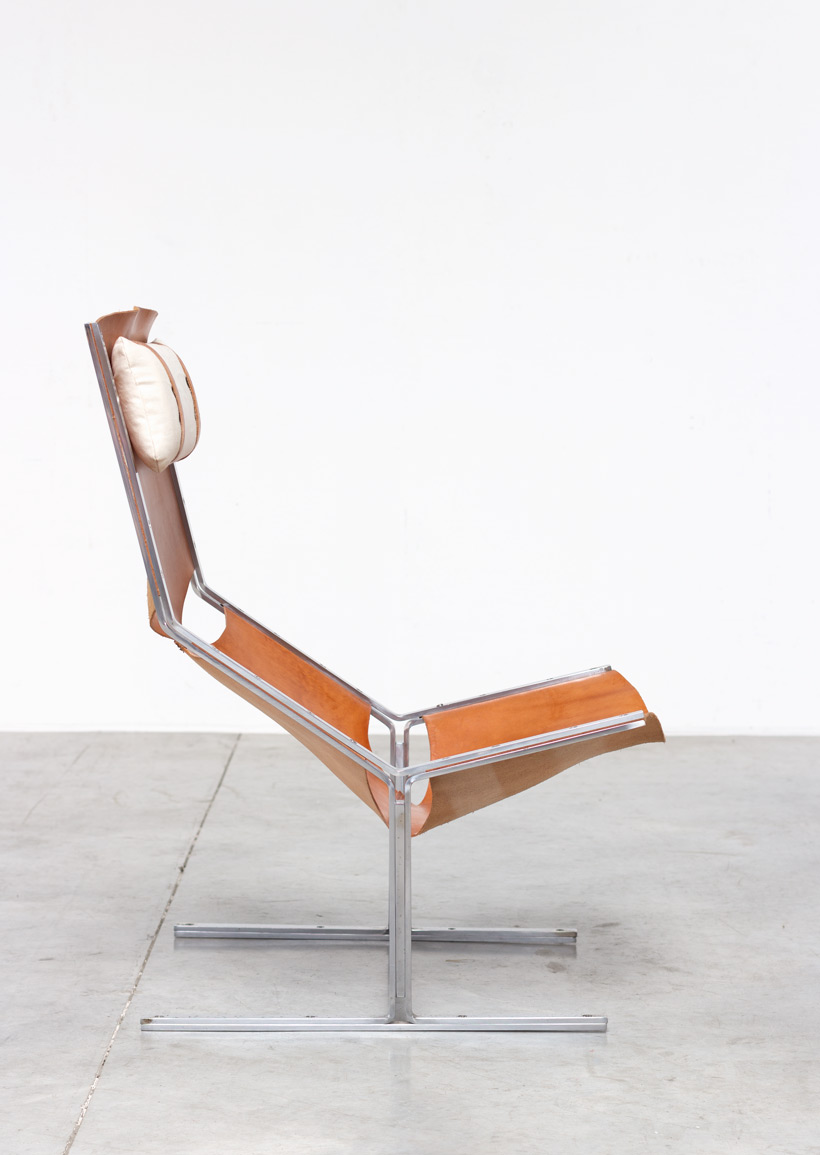 steel lounge chair ikea living room chairs ap originals modernist leather and 1960