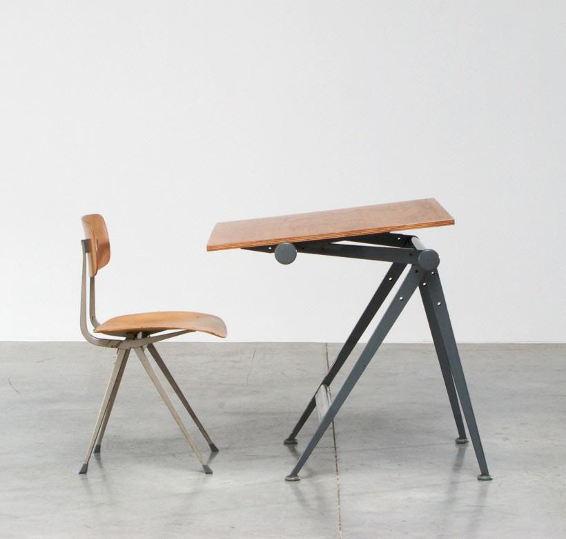 drafting table chairs upholstered slipper chair avington rietveld wim reply and kramer friso result