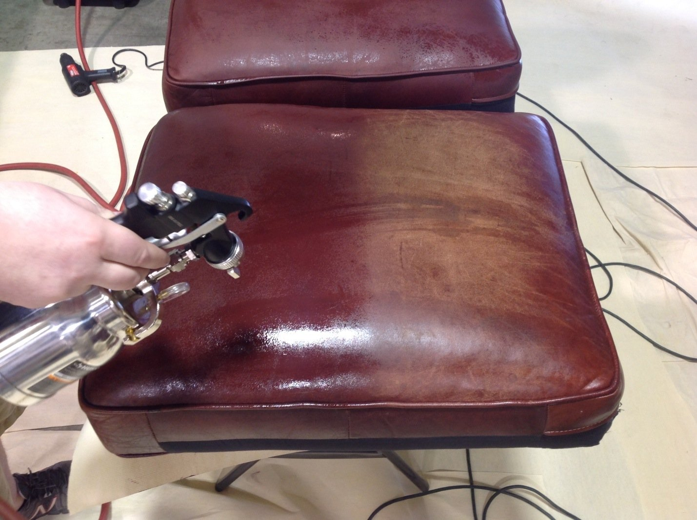 restoring leather sofa herman miller revit restoration furniture pros