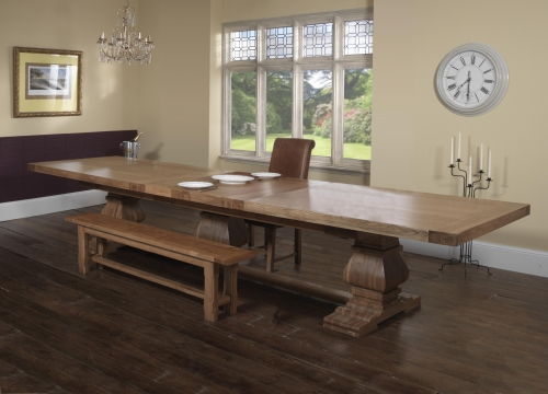 large kitchen table kohler porcelain sink monastery 350 dining furniture traders of thirsk