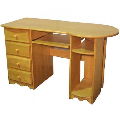 Cambrian Pine Computer Desk rounded top
