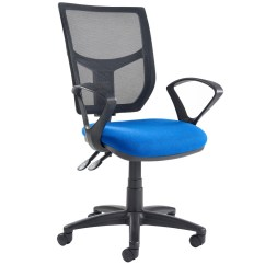 Office Chair Levers Repair Seat Webbing Gordy 3 Lever Mesh Back Operator With Fixed Arms