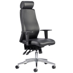 Posture Executive Leather Chair Outdoor Wooden Brechin High Back Faced With