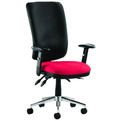Posture Chair With Back Swivel Hire Praktikos High Operator Black