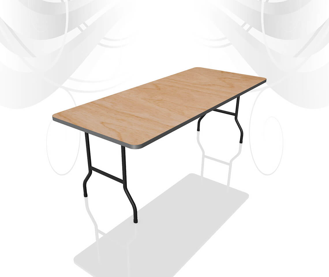 6ft x 2ft 6in Trestle Table  Furniture4Events