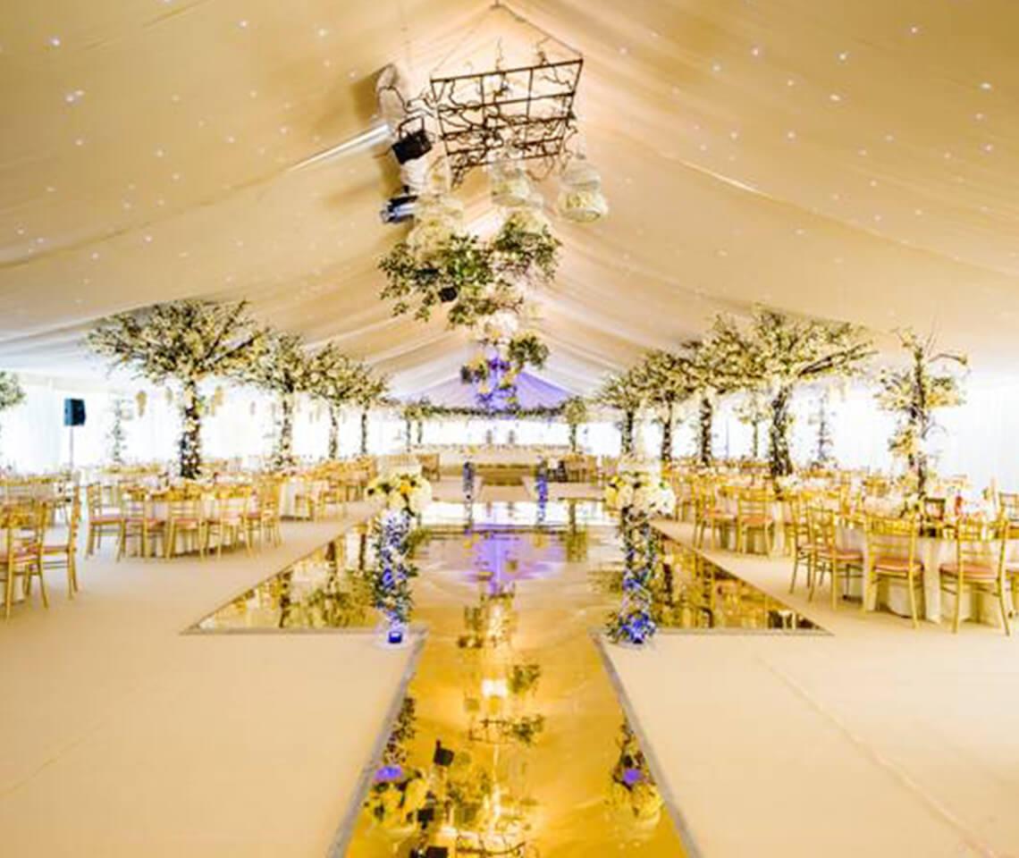 Gold Mirror Dance Floor  Furniture4Events