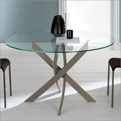 Bontempi Casa Italian Furniture Barone Round Dining Table