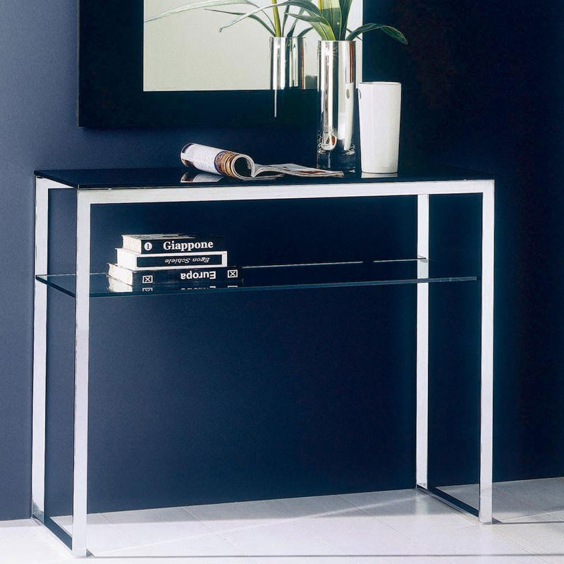 Bontempi Casa Hip Hop Glass Console Table